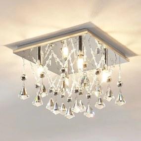 Sprankelende kristallen LED plafondlamp Saori - lampen-24