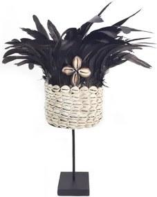 Little Lofts | Verentooi hoogte 35 cm x breedte 27 cm zwart decoratieve objecten veren, schelp decoratie woonaccessoires | NADUVI outlet