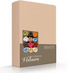 Romanette Luxe Hoeslaken Velours - Beige 80/100 x 200/220