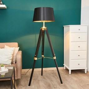 Zwarte vloerlamp Ellinor met drie poten - lampen-24