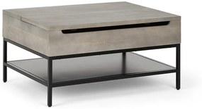 Lomond salontafel met uitklapbare bovenkant, grijs washed mangohout
