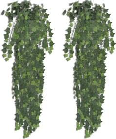 Kunstplanten klimop 90 cm groen 2 st