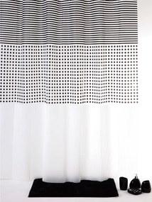 Douchegordijn Allibert Grey Peva Wit 180x200cm