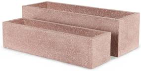 Malin set van 2 terazzo bloempotten, Pink