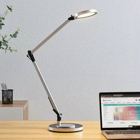LED burealamp Rilana met dimmer, zilver - lampen-24