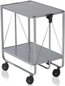 Side Car keukentrolley - 60 x 40 x 72 cm - kunststof - zilverkleurig