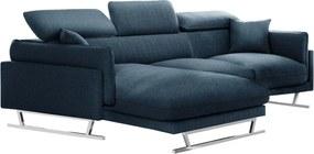 L'officiel Interiors | 5-Zitshoekbank Gigi hoekdeel links breedte 257 cm x diepte 188 cm x hoogte 94 cm denimblauw hoekbanken | NADUVI outlet