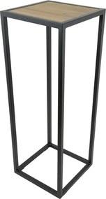 Spinder Design Diva Zuil Houten Inleg Zwart Staal - 40 X 40cm.