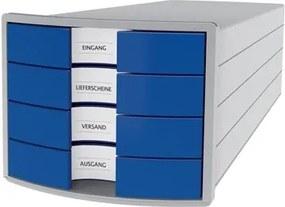 Ladenblok Impuls, gesloten laden, lichtgrijs/blauw