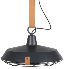Zuiver Dek 40 Industriele Hanglamp Met Leren Band Antraciet