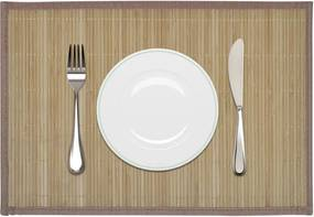 6 st Placemats 30x45 cm bamboe bruin