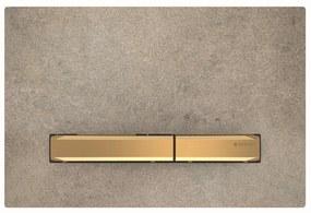Bedieningsplaat Geberit Sigma 50 voor 2-toets Spoeling Messing Goud / Betonlook