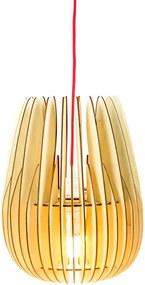Halley Naturel - Hanglamp - Small Ø 25 cm - Koordset rood