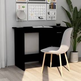 Bureau 100x50x76 cm spaanplaat zwart