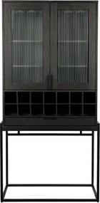 Zuiver Travis Kast - 88,5 X 46,5 X 180,5 Cm - Zwart Eiken