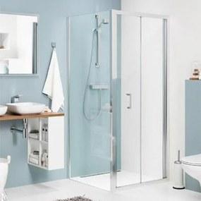 Douchecabine Sealskin Get Wet Compact Vouwdeur Vierkant 90x90x195cm Chroom/Zilver Hoogglans Helder Glas