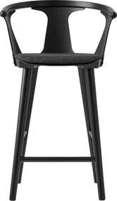 &tradition In Between barkruk 65cm met zitkussen zwart eiken Fiord 191