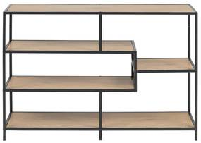 Open Boekenkast Staal Met Eiken - 114x35x78cm.