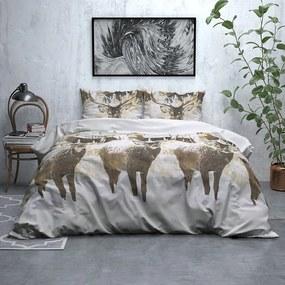 Sleeptime Elegance Snowy Deer - Verwarmend Flanel Lits-jumeaux (240 x 200/220 cm + 2 kussenslopen) Dekbedovertrek