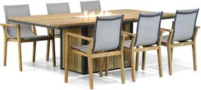 Lifestyle Atlanta/Seaside 220cm dining tuinset 7-delig