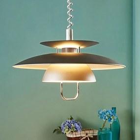 Elegante LED eettafel pendellamp Nadija, grijs - lampen-24