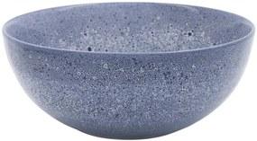 Saladeschaal 26cm Porto Reactief Glazuur Wit/blauw