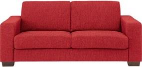Goossens Bank N-joy Divana rood, stof, 2,5-zits, stijlvol landelijk