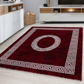 Vloerkleed - Spiral - Rechthoek - Rood Plus Patroon 80 x 150 cm - Ga naar Dekbed-Discounter.nl & Profiteer Nu