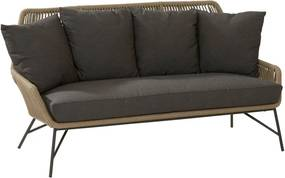 4 Seasons Outdoor Ramblas living bench Taupe with 5 cushions
