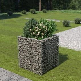 Gabion plantenbak verhoogd 90x90x100 cm gegalvaniseerd staal