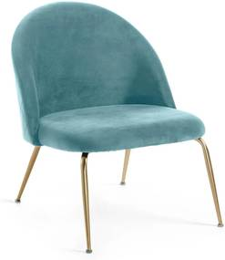 Kave Home Ivonne Fauteuil Met Ruitstiksel Turquoise