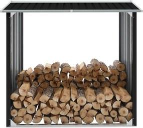 Haardhoutschuur 172x91x154 cm gegalvaniseerd staal antraciet