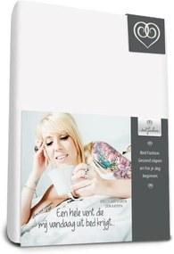 Jersey hoeslaken voor boxspring Wit - 90 x 210 cm - Wit