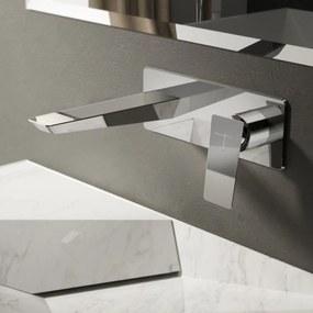 Hotbath Bro! Wastafelmengkraan Inbouw Paneel Geborsteld Nikkel
