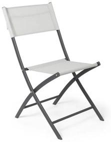 Vouwstoel - wit - 43x52x79 cm