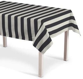 Rechthoekig tafelkleed, wit-grijs gestreept