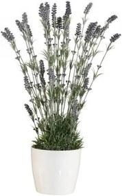 Kunstplant Lavendel in een neutrale kunststof pot