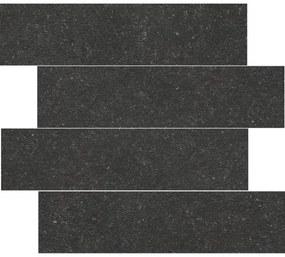 Cifre Cerámica Wandtegel Belgium Pierre Black 14,8x60 cm Gerectificeerd Natuursteen look Mat Zwart SW07310949