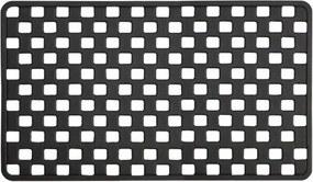 Badmat Antislip Sealskin Doby Rubber Zwart met Zuignappen 38x75cm