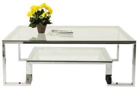 Kare Design Silver Rush Glazen Salontafel Met Metaal - 120 X 120cm.