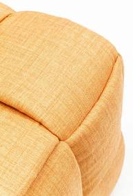 Goede Kare Design Woven Gevlochten Oranje Stoffen Poef | Biano EG-66