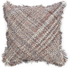 Rivièra Maison - Rhythm Blues Weave Pillow Cover - Kleur: bruin