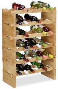 Wijnrek stapelbaar - bamboe flessenrek - wijnfleshouder bamboehout uitbreidbaar 6