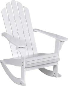 Tuinschommelstoel hout wit