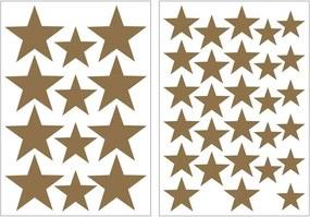 Art For The Home muurstickers Sterren - goud - 17,5x25 cm - Leen Bakker