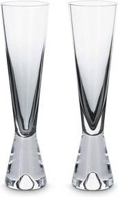 Tom Dixon Tank Champagne glas set van 2 zwart
