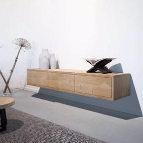 Industriële eikenhouten tv-meubel Grasse