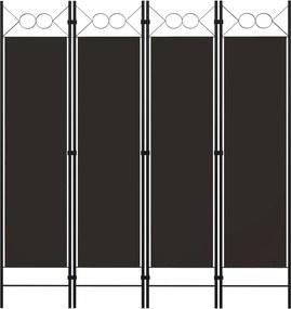 Kamerscherm met 4 panelen 160x180 cm bruin