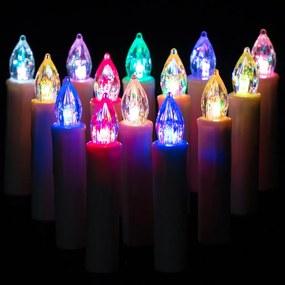 DBA Kerstboom Kaarsen Incl. Afstandsbediening - kerstverlichting -20 stuks - 10 x 1,5 cm - Meerkleurig