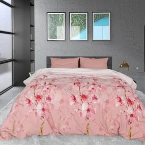 Sleeptime Elegance Flowers Lizzy - Verwarmend Flanel - Roze 1-persoons (140 x 200/220 cm + 1 kussensloop) Dekbedovertrek